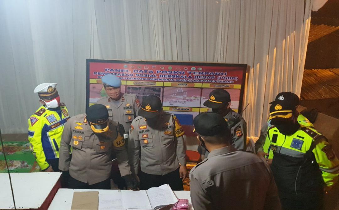 Kapolres Subang Cek Pos Pengamanan Check Point Perbatasan Dalam Ops Ketupat Lodaya 2020 dan Pemberlakuan PSBB