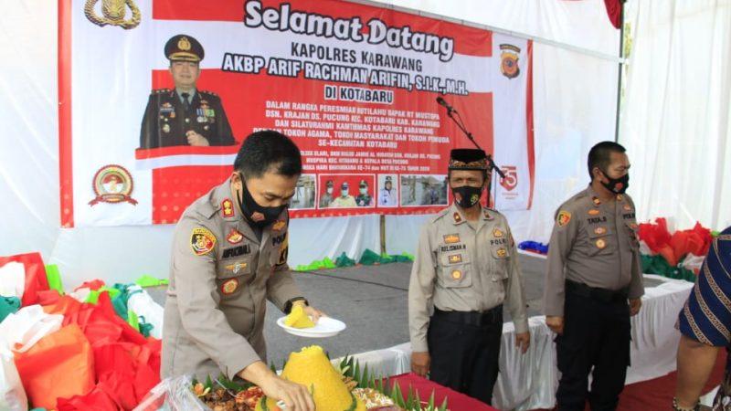 Kapolres Karawang Polda Jabar Resmikan Pembangunan Rutilahu di Dusun Krajan