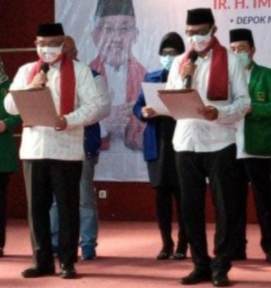 Paslon WaliKota Depok Idris-Imam Daftar Ke KPUD dan  Patuhi Protokol Kesehatan