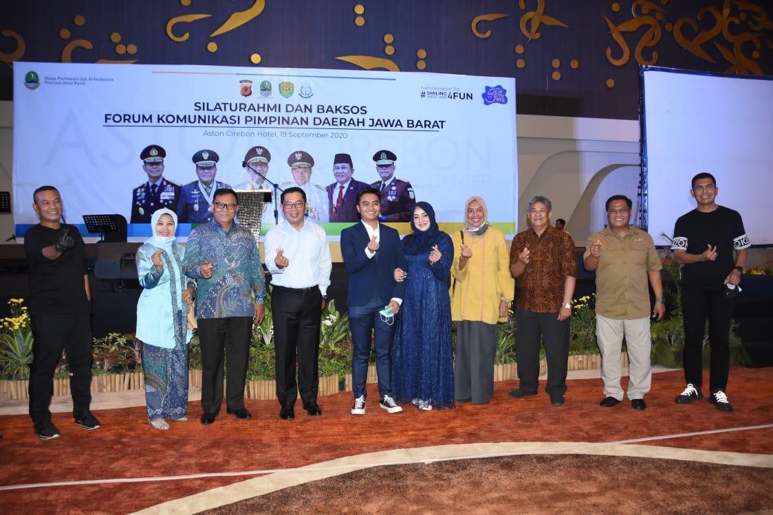 Pangdam III/Siliwangi Bersama Forkopimda Jabar Hadiri Silaturahmi Dan Baksos Di Cirebon