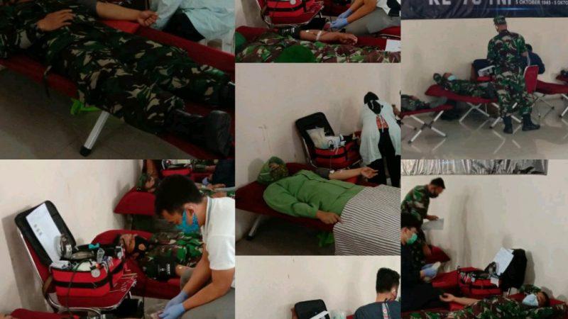 Memperingati Hut TNI ke-75 Kodim 0611 Garut Laksanakan Bhakti Sosial Donor Darah