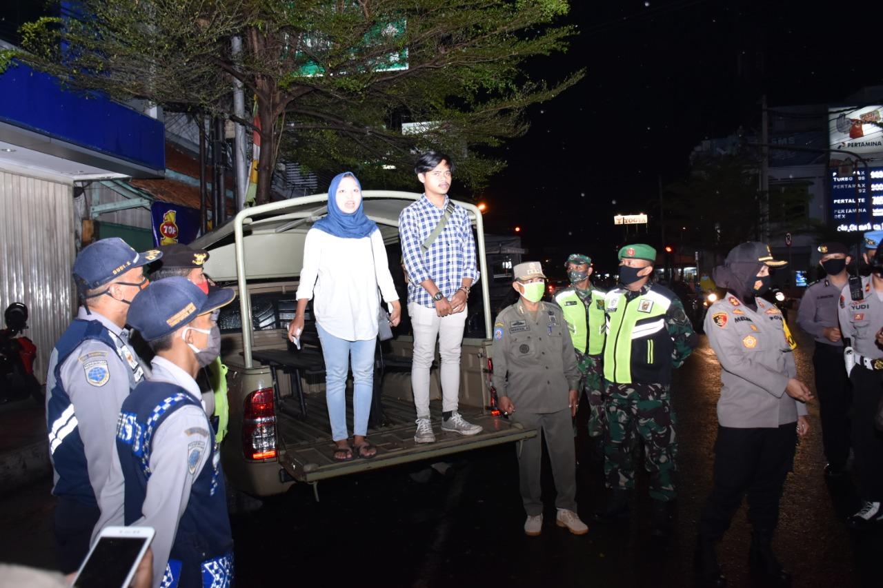 Kasus covid bertambah, Operasi Lanjutan Yustisi Jaring sepasang Muda-Mudi Tak Bermasker