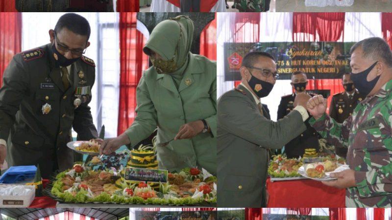 Korem 062/TN Gelar Acara Syukuran HUT Ke-75 TNI & Polri Ke-58 Korem 062/TN