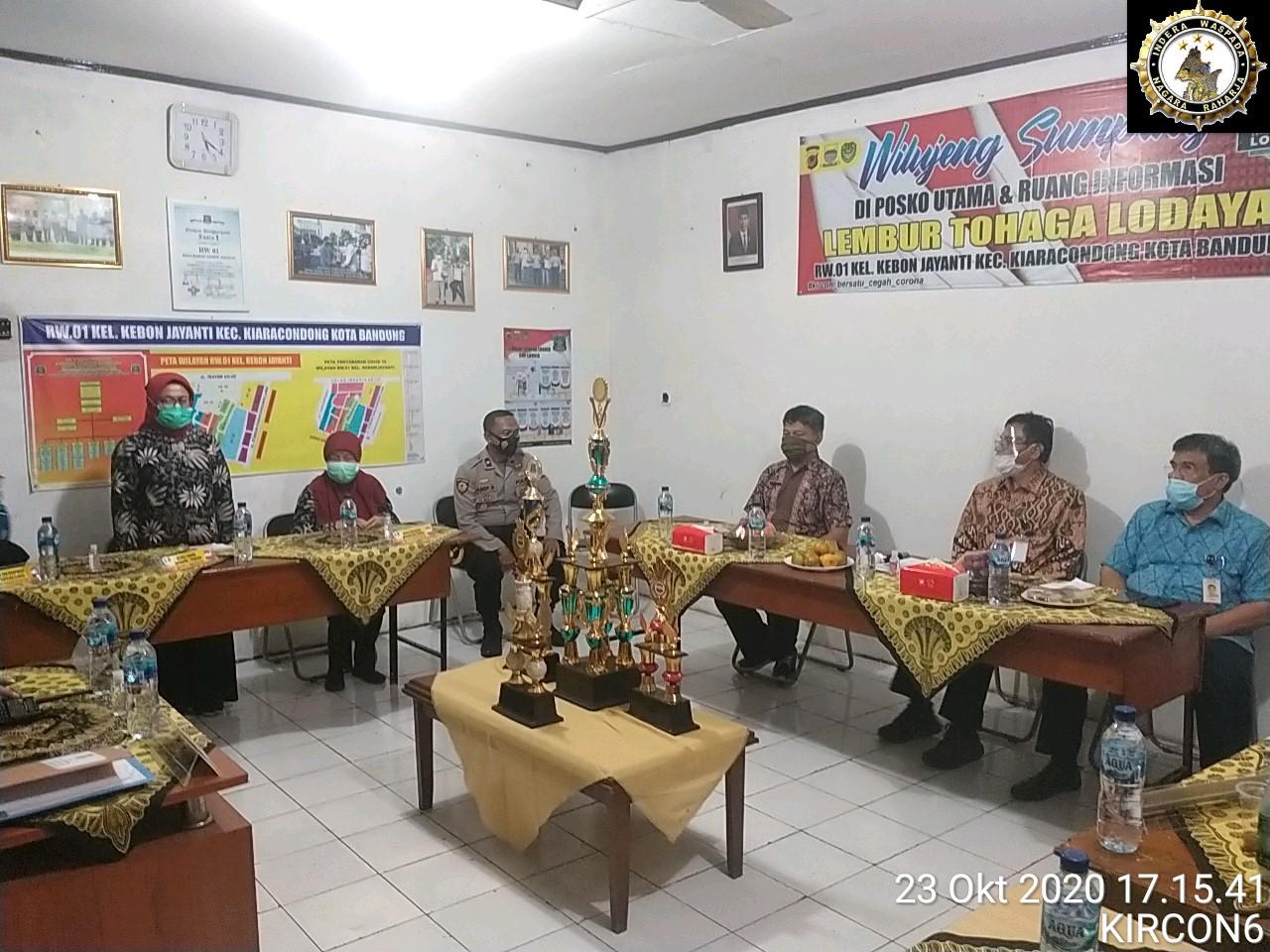"""Giat Supervisi oleh Tim Staf Presiden RI ke Kampung Tangguh Nusantara """" Lembur Tohaga Lodaya"""" Kiaracondong Bandung"""