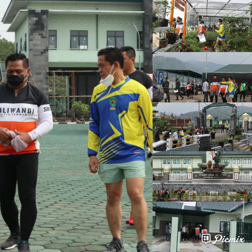 Pangdam III/Siliwangi Meninjau Kodim 0624/Kab. Bandung Setelah Melaksanakan Gowes