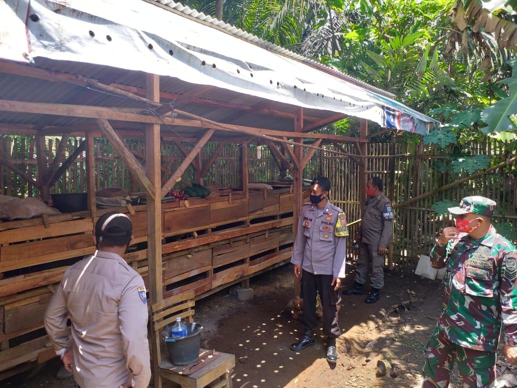 Sinergitas Bhabinkamtibmas, Babinsa, dan Binas Desa Cek Sektor Ketahanan di Wilayah Binaannya
