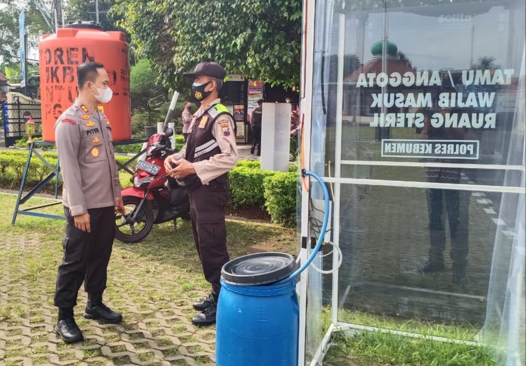 Polres Kebumen Masih Tegakkan Protokol Kesehatan, Pengunjung Wajib Mengenakan Masker