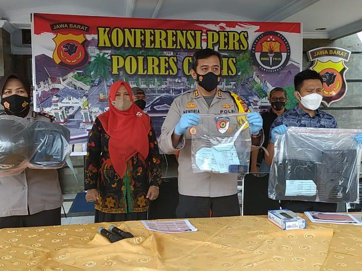 Sat Reskrim Polres Ciamis Berhasil Ungkap Pencurian Pecahkan Kaca Mobil