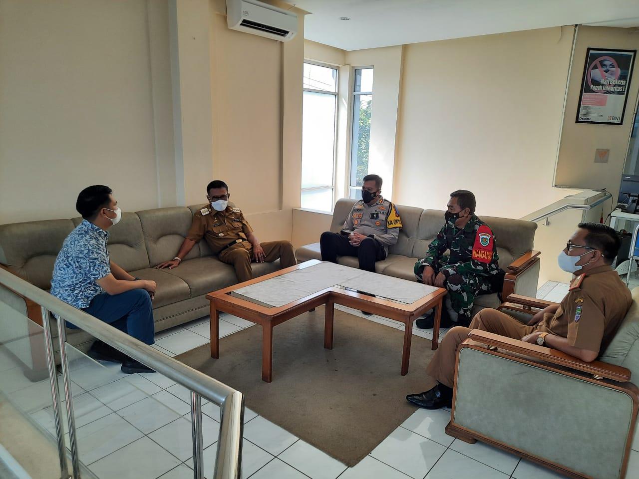 Kapolres Ciamis Lakukan Koordinasi Tiga Pilar Kabupaten Ciamis Dengan Bank BNI Cabang Ciamis