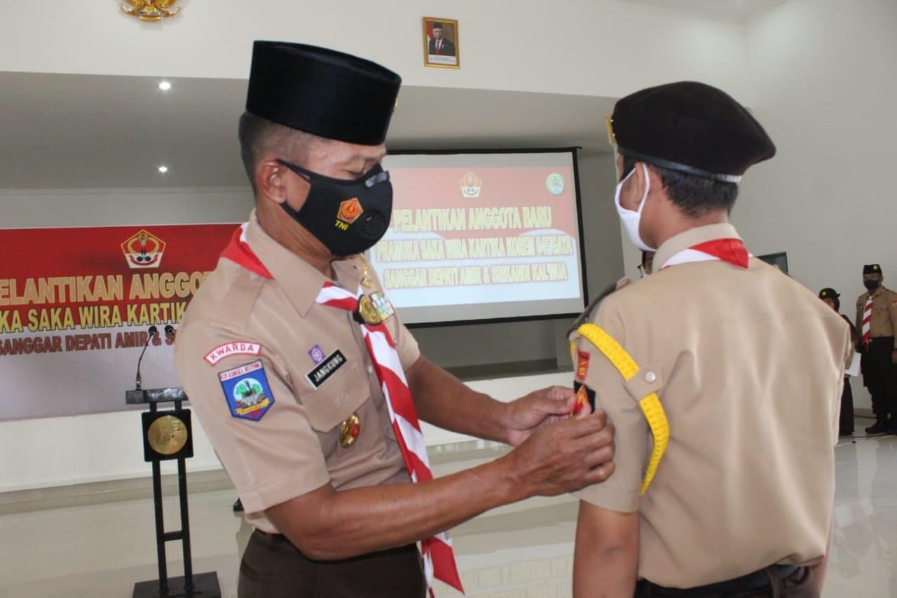 Danrem Lantik Anggota Baru Saka Wira Kartika Korem 045/Garuda Jaya