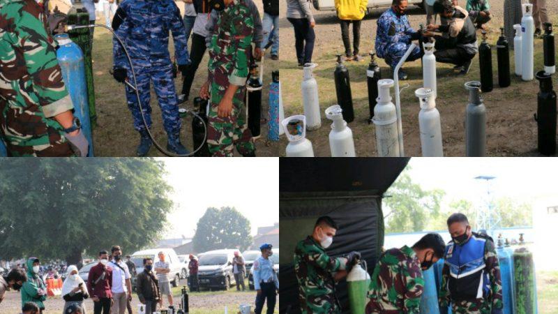 Gelar Vaksinasi ke-2 dan Pengisian Tabung Oksigen Hari Ke Dua Dalam Rangka Memperingati Hari Bhakti TNI-AU Ke 74.